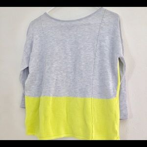 A.n.a size small yellow and gray top